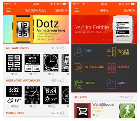 Análisis Pebble appstore watchfaces apps