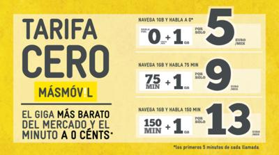 MÁSMÓVIL reforma sus tarifas para ofrecer el giga más barato