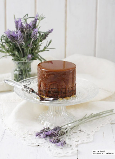 Semifrío de chocolate a la miel de lavanda. Receta