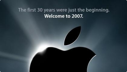 Felicitación en apple.com del año nuevo