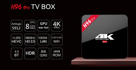 TV Box Android H96 Pro, con procesador de ocho núcleos y 3GB de RAM, por 41,77 euros