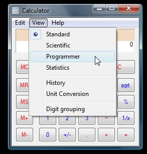 Calculadora Windows 7