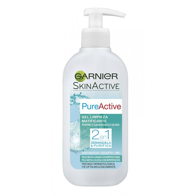 Garnier Skin Active Jabón Líquido Matificante 2 en 1 para Pieles Mixtas a Grasas