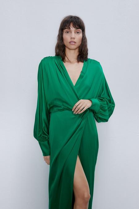 Vestido Invitada Zara Abullonadas 01