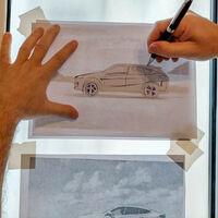 Crea tu propio modelo de coche calcando los bocetos de cualquier diseñador o las fotos de coches ya hechos