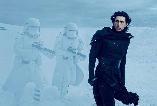 Adam Driver en Star Wars VII: El Despertar de la Fuerza