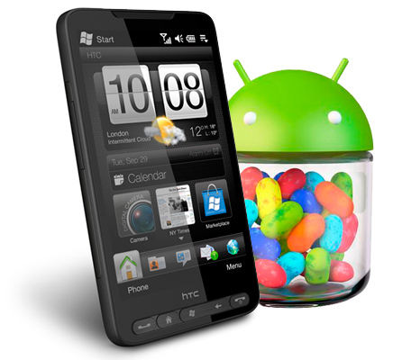 HTC HD2 Android Jelly Bean