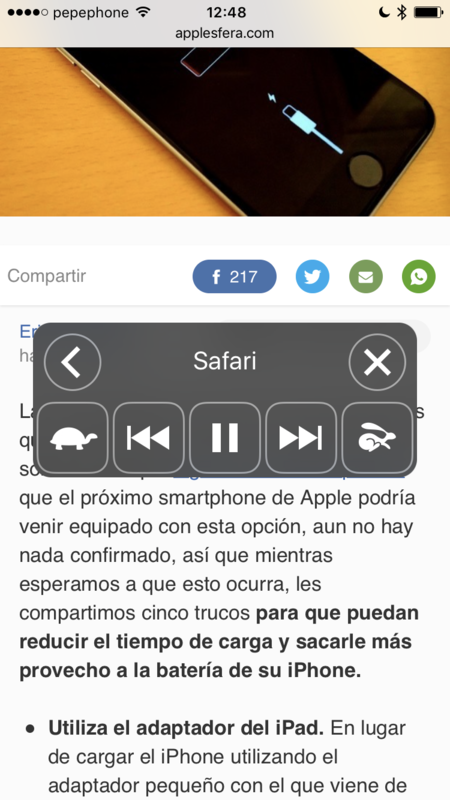 Iphone Interfaz Lectura