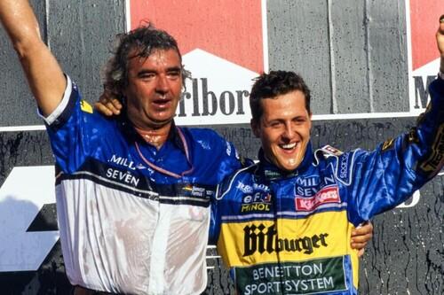 La triquiñuela con la que Flavio Briatore sacó a Michael Schumacher del equipo Jordan y cambió la historia de la Fórmula 1