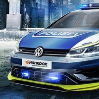 Oettinger y Hankook tunean un Golf R para la policía alemana