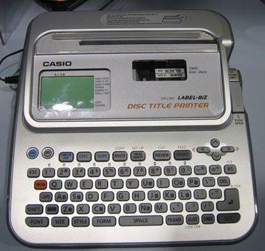 Etiquetadora para CD y DVD de Casio