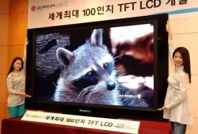 Pantalla LCD de 100 pulgadas de LG-Philips en el CeBit