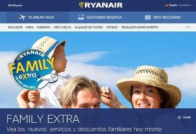 Viajar con niños ahora tiene muchas ventajas en Ryanair