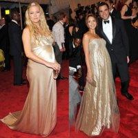 Duelo de estilos: embarazadas en la Gala del Met ¿Kate Hudson o Jessica Alba?