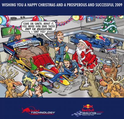 La curiosa felicitación de navidad de Red Bull Racing