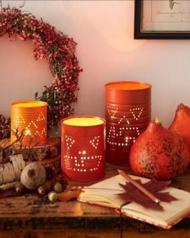 Recicladecoración: convierte viejas latas de conserva en luces decorativas para Halloween