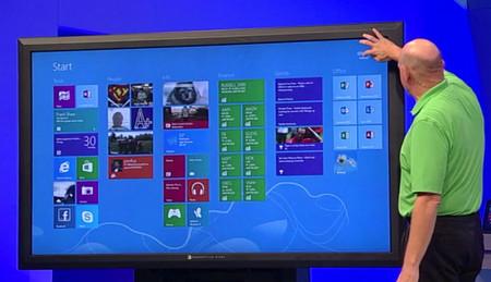Pantalla de 82 pulgadas con Windows 8