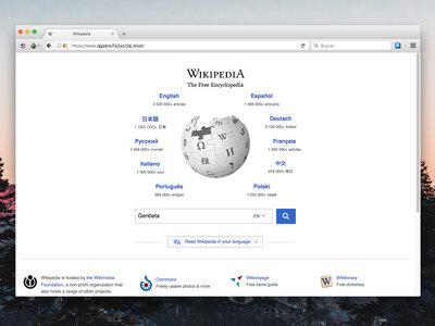 Un ex-ingeniero de Facebook ha creado una versión de la Wikipedia en la Dark Web