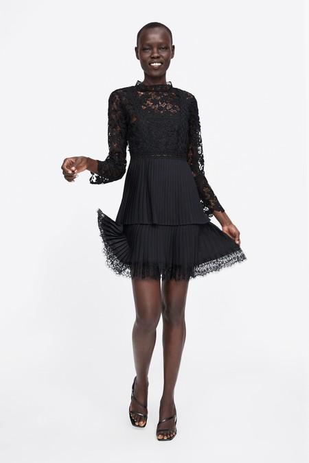Vestido Negro Zara 1