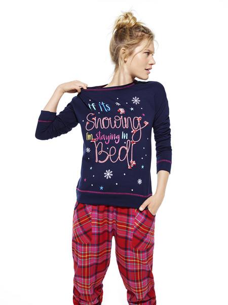 Merry And Bright Sweater Top E10 Merry And Bright Check Leg E8