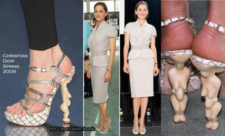 Los zapatos de Marion Cotillard y Alexa Chung