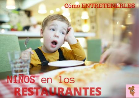 Cinco ideas para entretener a los niños en un restaurante sin usar la tecnología