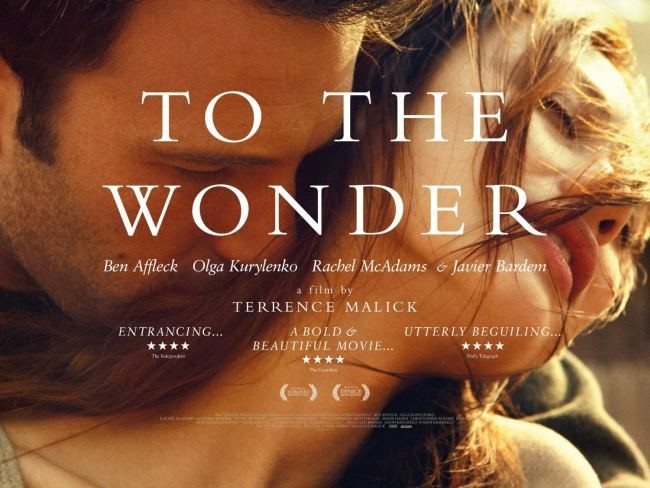Banner publicitario de To The Wonder