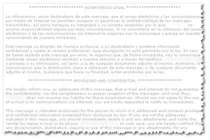 Algunas reflexiones sobre las firmas de correo electrónico (I)
