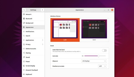 Ubuntu 21 10 Appearance Settings Screenshot 1