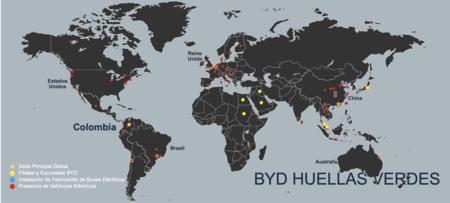 Mapa de BYD