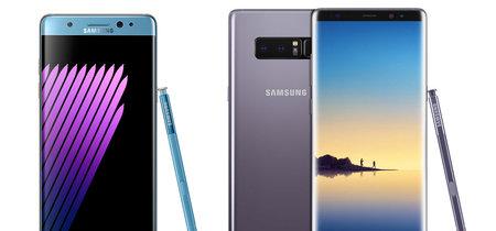 Del Samsung Galaxy Note 7 al Note 8, ¿qué ha cambiado en un año entre ambos modelos?