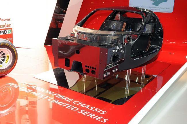 Chasis de Ferrari en material compuesto