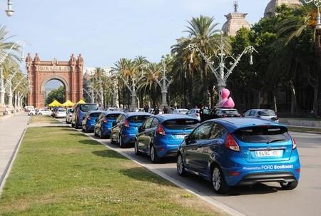 Ford Fiesta en el EcoRallyRACC