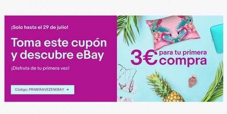 ¿Nunca has comprado en eBay? Con este cupón tienes 3 euros gratis, sin compra mínima, para que lo pruebes [Finalizado]