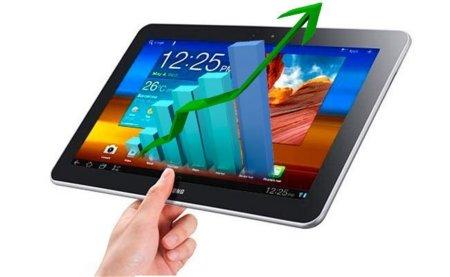 Los tablet Android le van ganando terreno al iPad