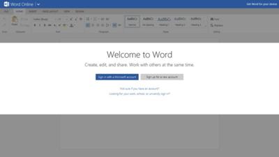 Microsoft Word Online para Windows 8.x / RT