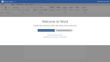 Microsoft Word Online para Windows 8.x / RT