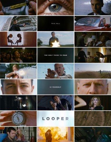Un cartel compuesto con imágenes de Looper