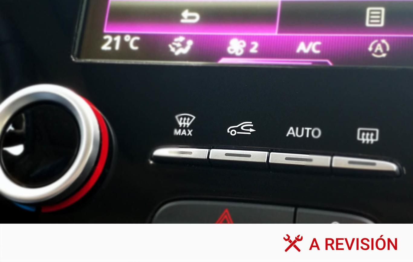 Simbolos del aire acondicionado del auto