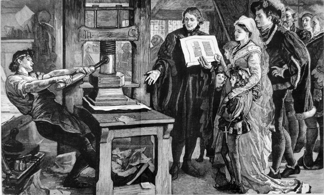 The Caxton Celebration William Caxton Showing Specimens Of His Printing To King Edward Iv And His Queen