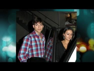 Mila Kunis y Ashton Kutcher pasan de jugar al escodite...