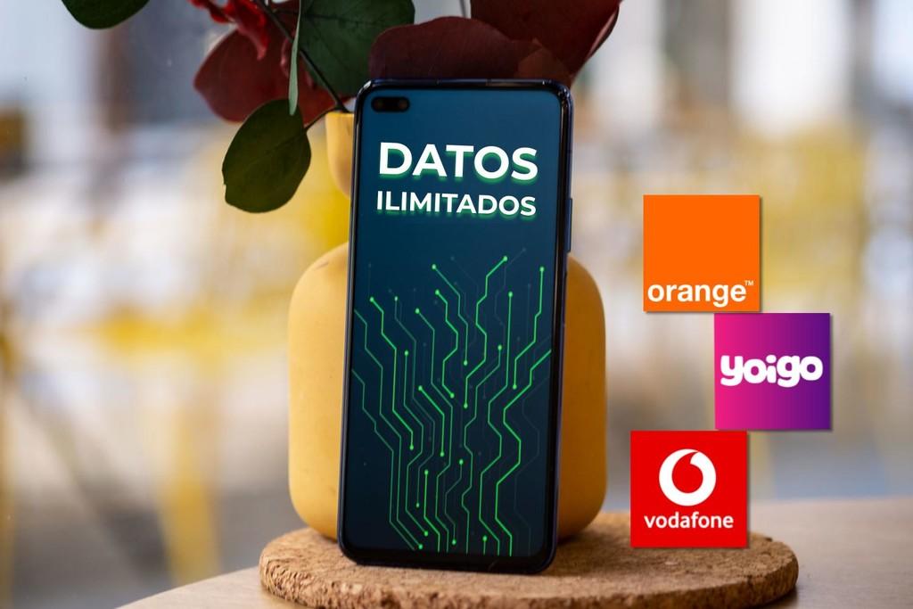 Así son las tarifas con datos móviles ilimitados de Orange, Vodafone y Yoigo: precios y diferencias
