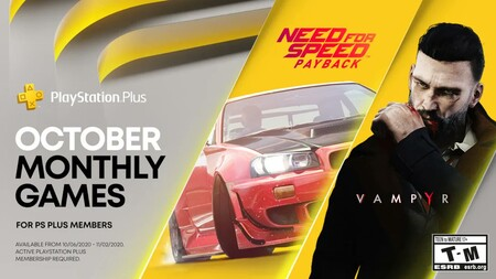 Need for Speed Payback y Vampyr entre los juegos de PlayStation Plus de octubre de 2020