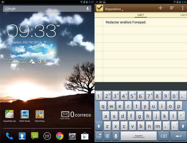 Asus FonePad software