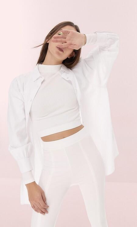 Camisa larga popelin