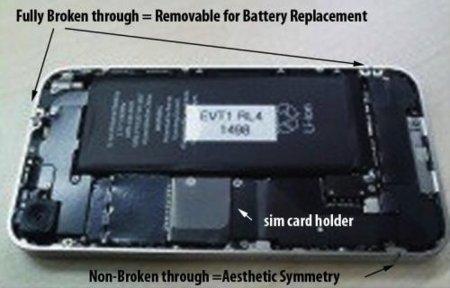 iphone 4g bateria interior apple