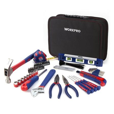 Por 29,99 euros en Amazon tenemos este set de 100 herramientas Workpro con maletín incluido