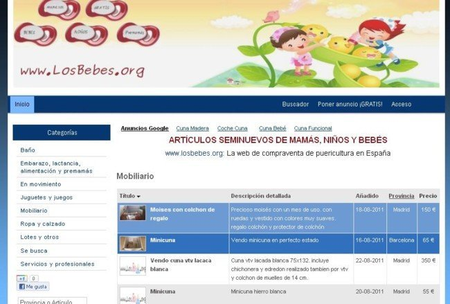 captura sitio web losbebes.org