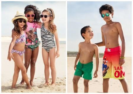 Moda Primavera/Verano 2014 para bebés y niños: trajes de baño low cost para los peques