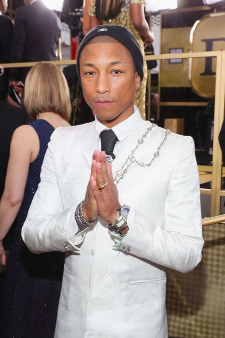 Pharrell Wiliams Chanel Golden Globe Awards Red Carpet 2017